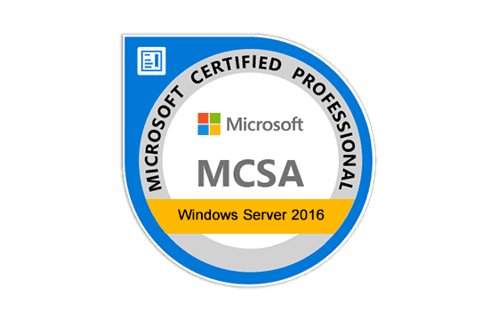 Microsoft Certified Solutions Associate Windows Server 2016 Exams