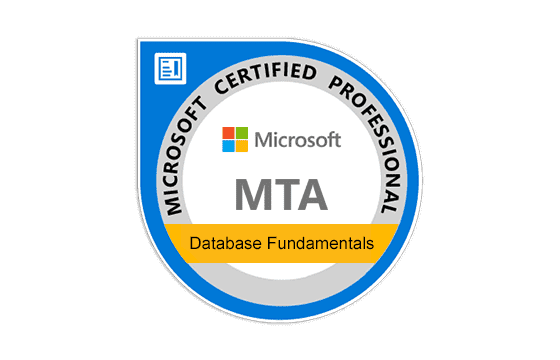 Microsoft Technology Associate Database Fundamentals Exams