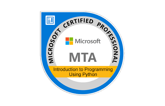 Microsoft Technology Associate Introduction to Programming Using Python Exams
